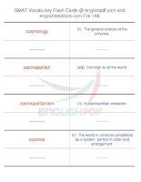 GMAT vocabulary flash cards148