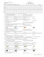 Thi HK1 132  Ma trận đề thi kiểm tra môn tin học lớp 12