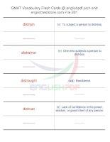 GMAT vocabulary flash cards201