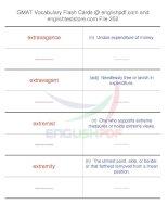 GMAT vocabulary flash cards252