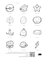 hand drawn nintendo items black 4cm printable by rmacias