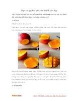 Mẹo vặt gọt hoa quả nhanh và đẹp mắt