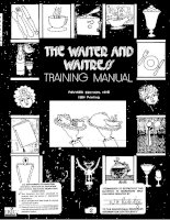 The waiter and waitress training manual