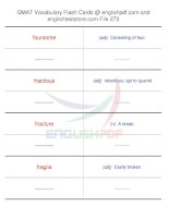 GMAT vocabulary flash cards273