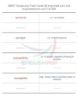 GMAT vocabulary flash cards639