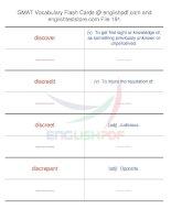 GMAT vocabulary flash cards191