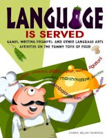 Language is served games, writing prompts, and other language arts activivies on food topics