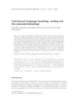 Ellis 2009 task based language teaching
