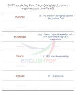 GMAT vocabulary flash cards652