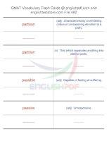 GMAT vocabulary flash cards482