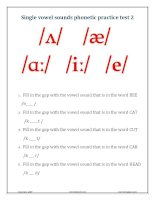 Vowel sounds phonetic practice test 2 quiz