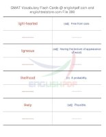 GMAT vocabulary flash cards390