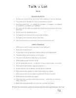 talk a lot 1 question sheet work