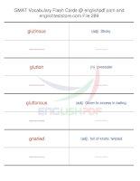 GMAT vocabulary flash cards289