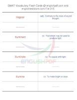GMAT vocabulary flash cards315