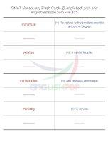 GMAT vocabulary flash cards421