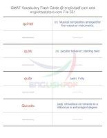 GMAT vocabulary flash cards551