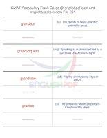GMAT vocabulary flash cards291