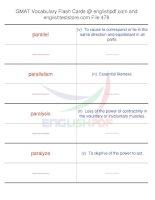 GMAT vocabulary flash cards478