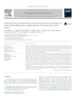 Health behaviour change theory meets falls prevention- Feasibility of a habit-based balance and strength exercise intervention for older adults