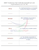 GMAT vocabulary flash cards163