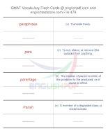 GMAT vocabulary flash cards479