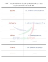 GMAT vocabulary flash cards183