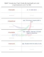 GMAT vocabulary flash cards360