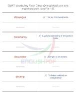 GMAT vocabulary flash cards160