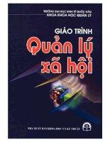 GIÁO TRÌNH QUẢN lý xã hội   đh KINH tế QUỐC dân