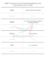 GMAT vocabulary flash cards624