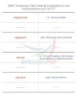 GMAT vocabulary flash cards577