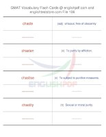 GMAT vocabulary flash cards106