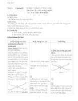 Giáo án môn Toán Hình học lớp 7 chương 1