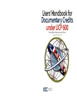 ICC users handbook for documentary credits under UCP 600 pdf