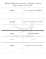 GMAT vocabulary flash cards282