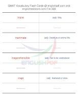 GMAT vocabulary flash cards328
