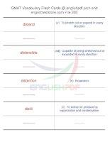 GMAT vocabulary flash cards200