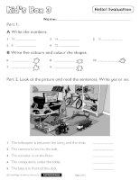 Kids box 3 tests