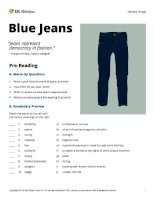 ESL library blue jeans
