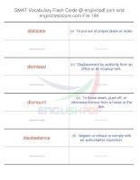 GMAT vocabulary flash cards194
