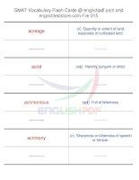 GMAT vocabulary flash cards15