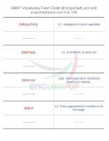 GMAT vocabulary flash cards159