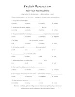 complete the sentences intermediate level 4