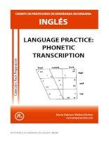 Language practice phonetic transcription