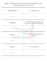 GMAT vocabulary flash cards270