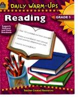 daily warm ups reading grade 5