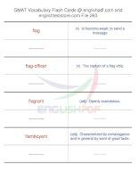 GMAT vocabulary flash cards263