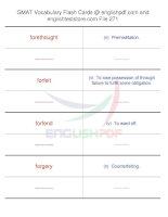 GMAT vocabulary flash cards271