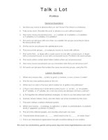 politics discussion words question sheet